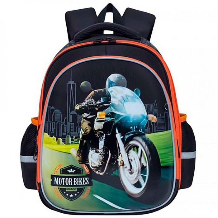 Grizzly Рюкзак школьный RA-878-2Школьные рюкзаки<br>Grizzly Рюкзак школьный RA-878-2 - это стильный и яркий рюкзак, который отлично подойдет и на каждый день, и для учебы.  Особенности: Два основных отделения Внутренний карман-пенал для карандашей Разделительная перегородка-органайзер Жесткая анатомическая спинка Дополнительная ручка-петля Укрепленные лямки с возможностью регулировки размера под рост Брелок-игрушка