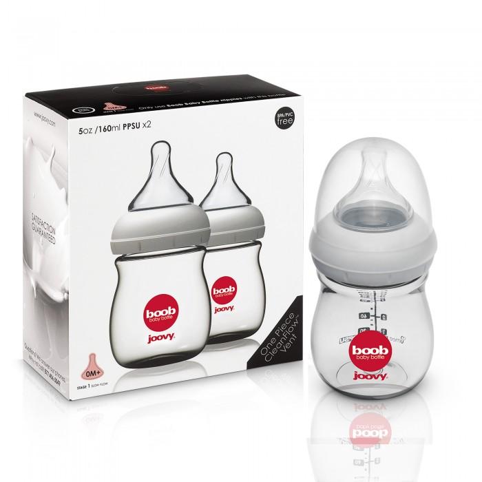Наборы для кормления Joovy Набор бутылочек для кормления Boob Baby (PPSU) 160 мл, Наборы для кормления - артикул:575761