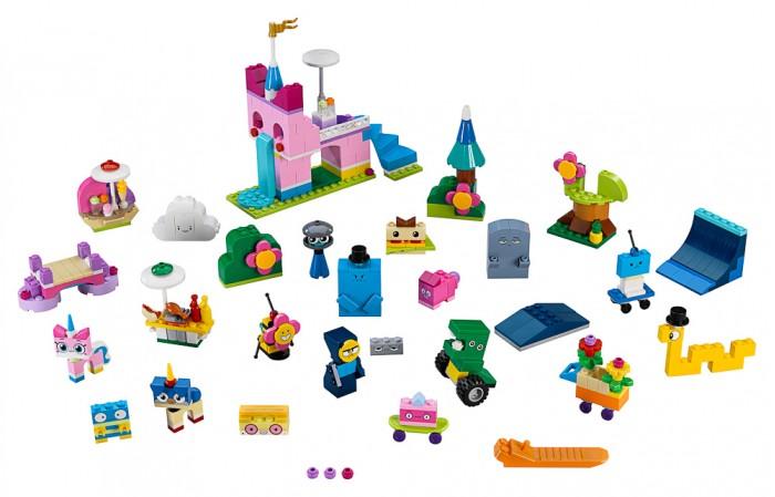 Конструктор Lego Unikitty 41455 Лего Юникитти Коробка кубиков для творческого конструирования КоролевствоLego<br>Конструктор Lego Unikitty 41455 Лего Юникитти Коробка кубиков для творческого конструирования Королевство предназначен для детей от 5 лет.  Особенности:   Проникнись весёлыми идеями Юникитти и построй целое Королевство с помощью коробки разноцветных кубиков для творческого конструирования Королевство  Следуй инструкциям и собери всех своих любимых героев из сериала Юникитти Потом ты сможешь собирать фигурки, которые придумаешь сам. В инструкциях также есть указания по сборке специальных мест и сцен со всего королевства, включая Замок Юникитти Включи своё воображение во время игры Эта специальная коробка кубиков даёт безграничные возможности творческого конструирования! В комплекте: 433 детали.