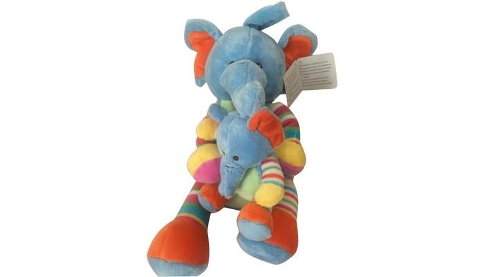 Мягкие игрушки Bampi Слонята плюш 30 см мягкая игрушка бегемотик оранж жорик плюш синтепон серый 30 см мс1983 30