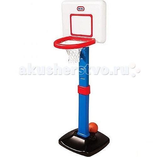 Little Tikes Баскетбольный щит раздвижной 60-120 смБаскетбольный щит раздвижной 60-120 смПрекрасный раздвижной баскетбольный щит от Little Tikes подарит ребенку часы активного отдыха и заряд хорошего настроения на долгое время!   Он развивает координацию движений, приучая маленьких спортсменов высоко прыгать, отрабатывать баскетбольный бросок и учиться предугадывать траекторию движения мяча на настоящей площадке.   Щит имеет регулировку - 6 уровней высоты (от 60 до 120 см), поэтому будет расти вместе с Вашим малышом. Он имеет реалистичный дизайн. Широкое кольцо корзины и маленький мягкий детский мячик (входит в комплект) помогут малышам совершать удачные броски. Мячик может быть помещен в основание для хранения.   Внутрь основания рекомендуется насыпать песок для большей устойчивости снаряда.  Игровой набор рекомендован к использованию для детей старше 3-х лет.  Высота щита: 60-120 см<br>