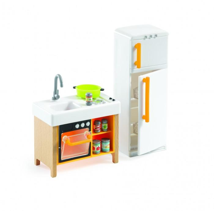 Кукольные домики и мебель Djeco Мебель для кукольного дома Кухня 07833 мебель для кукольного дома djeco мебель для кукольного дома