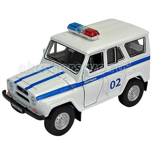Машины Welly Модель машины 1:34 УАЗ 31514 Полиция autotime collection 11446 уаз 31514 вдв