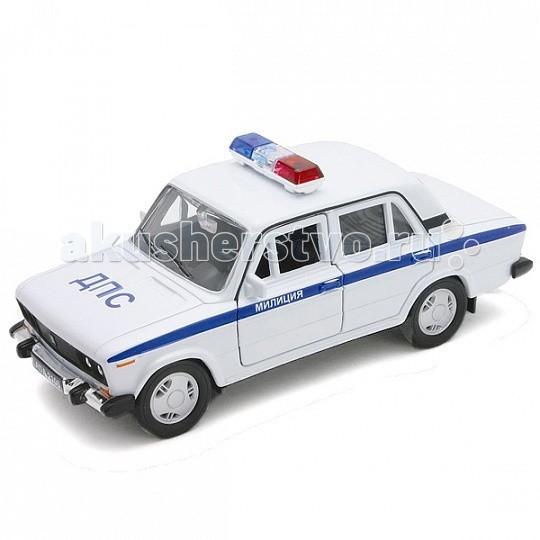 Машины Welly Модель машины 1:34-39 Lada 2106 Милиция ДПС welly модель машины 1 34 39 lada priora белая