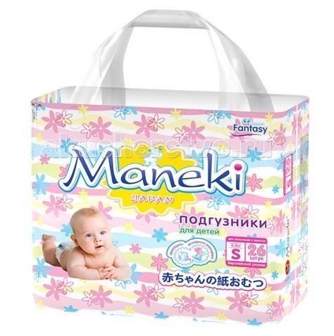 Подгузники Maneki Подгузники Fantasy S (4-8 кг) 26 шт. подгузники maneki fantasy xl 12 кг 48 шт