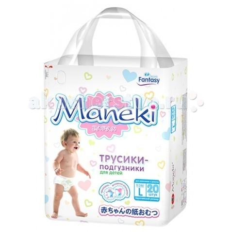 Подгузники Maneki Подгузники-трусики Fantasy L (9-14 кг) 20 шт. подгузники maneki fantasy xl 12 кг 48 шт