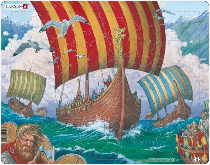 Картинка для Larsen Пазл Корабли викингов