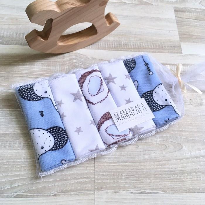 Текстильные салфетки MamaPapa Набор Слоники 5 шт. valiant сетка для аксессуаров слоники 30 20 см