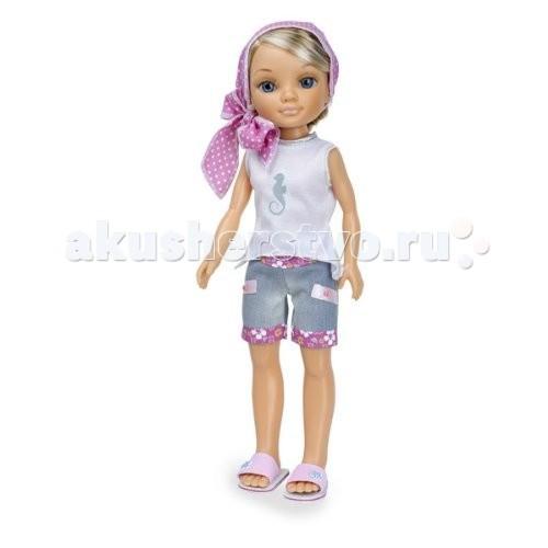 Куклы и одежда для кукол Famosa Кукла Нэнси на отдыхе Русая в розовом платочке куклы и одежда для кукол famosa кукла нэнси ловит бабочек