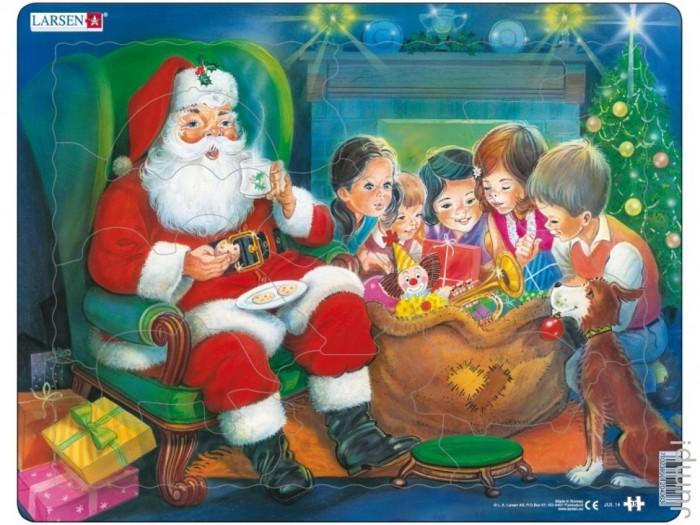 Larsen Пазл Санта с детьми