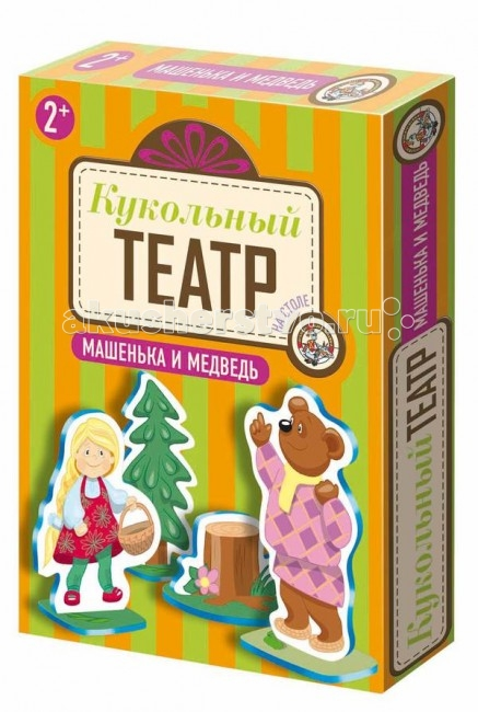Игры для малышей Тридевятое царство Кукольный театр на столе Машенька и медведь тридевятое царство