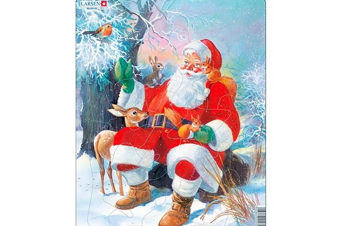 Картинка для Larsen Пазл Санта с животными