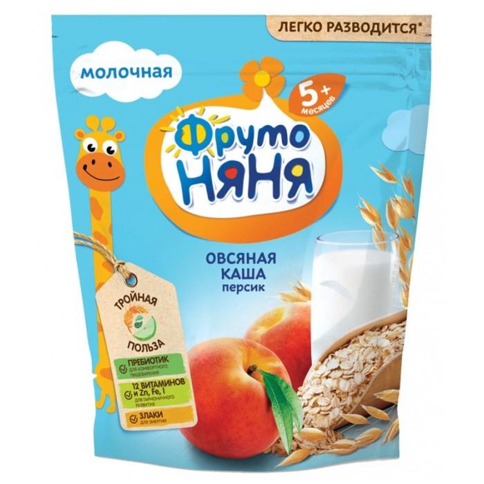 Каши ФрутоНяня Молочная Овсяная каша с персиком молочная каша молочная фрутоняня овсяная с персиками с 5 мес 200 г