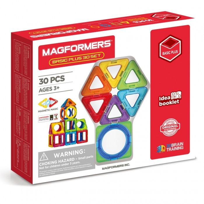 Конструктор Magformers Магнитный Basic Plus 30 set (30 деталей) фото