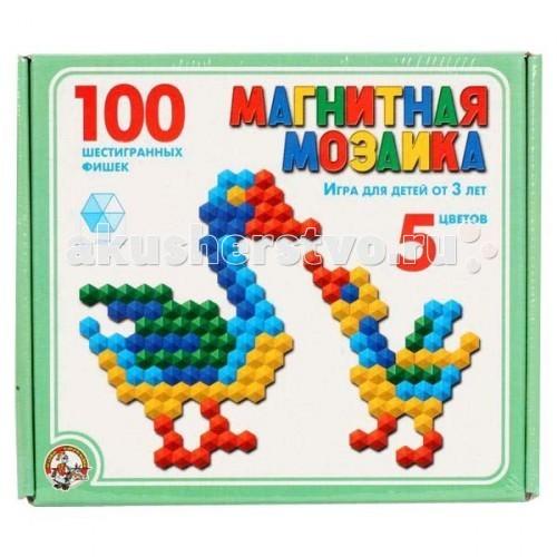 Мозаика Тридевятое царство Магнитная мозаика 100 шестигранных фишек 00961 мозаика тридевятое царство шестигранная мозаика 145 эл 5цв 00956