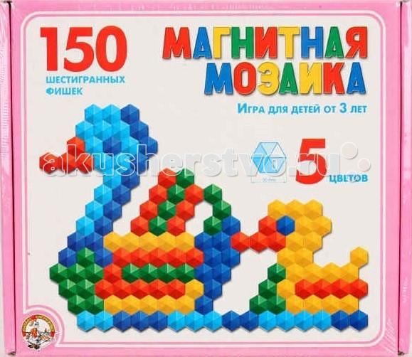 Мозаика Тридевятое царство Мозаика магнитная шестигранная 150 фишек 00960 мозаика тридевятое царство шестигранная мозаика 145 эл 5цв 00956