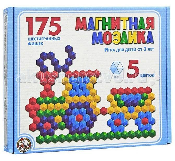 Мозаика Тридевятое царство Мозаика магнитная шестигранная 175 фишек 00959 мозаика тридевятое царство мозаика 120 элементов 00973