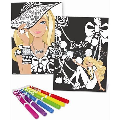 Творчество и хобби , Раскраски Fashion Angels Бархатные постеры Барби-модница арт: 57982 -  Раскраски
