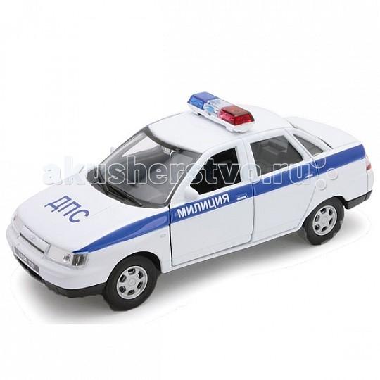 Машины Welly Модель машины 1:34 Lada 110 Милиция ДПС welly 42380rt велли модель машины 1 34 39 уаз 31514 милиция
