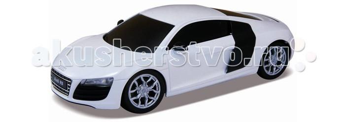 Welly Радиоуправляемая модель машины 1:24 Audi R8 V10Радиоуправляемая модель машины 1:24 Audi R8 V10Коллекционная модель машины 1:24 Audi R8 V10 на радиоуправлении.  Радиоуправляемая модель Audi R8 V10 Welly – копия автомобиля.  С помощью пульта можно управлять движением автомобиля!  Батарейки:  - 2 АА (для пульта) - 3 АА (для машинки).<br>