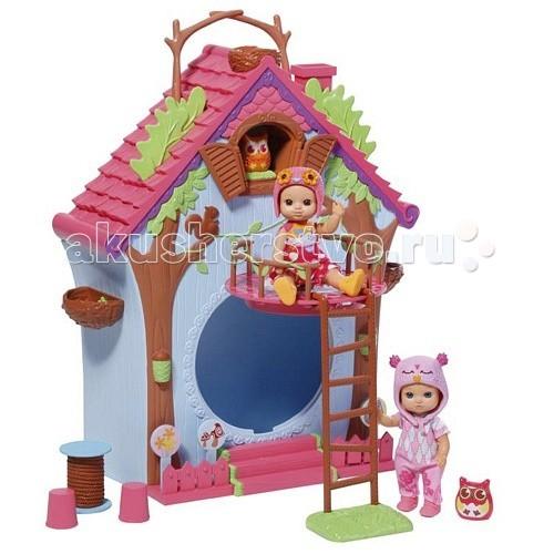 Zapf Creation Кукольный домик Мини-птичка Шу Шу с куклойКукольный домик Мини-птичка Шу Шу с куклойИгровой набор Мини-птичка Домик с куклой 920-077.  Забавный игровой набор для девочки с куколками, домом и интерьером.  Домик предназначен для куклы и ее птички.  К ним в гости в дом могут приходить другие куколки, всем место найдется.   В комплект игрового набора входят:  - кукла - птичка  - домик - мебель - лестница.<br>