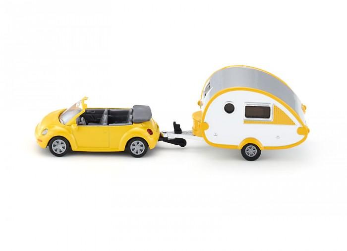 Машины Siku Автомобиль VW Жук с прицепом 1629 машины siku джип с лодкой 1658