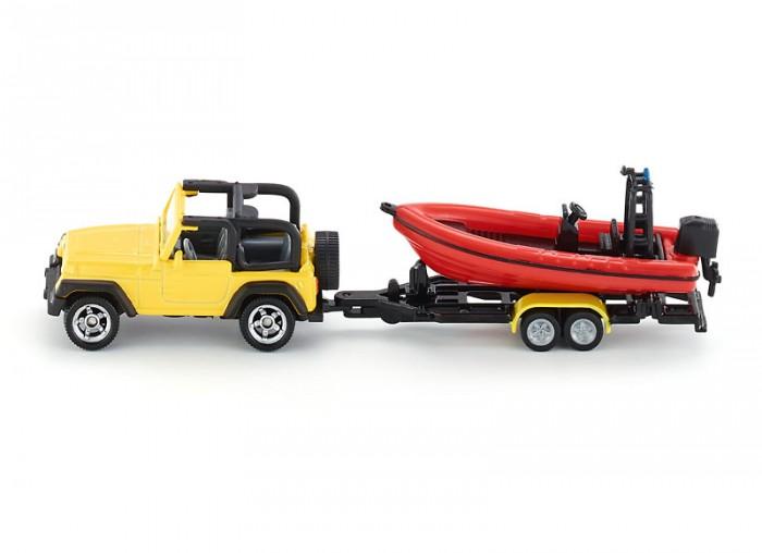 Машины Siku Джип с лодкой 1658 машины siku джип с лодкой 1658