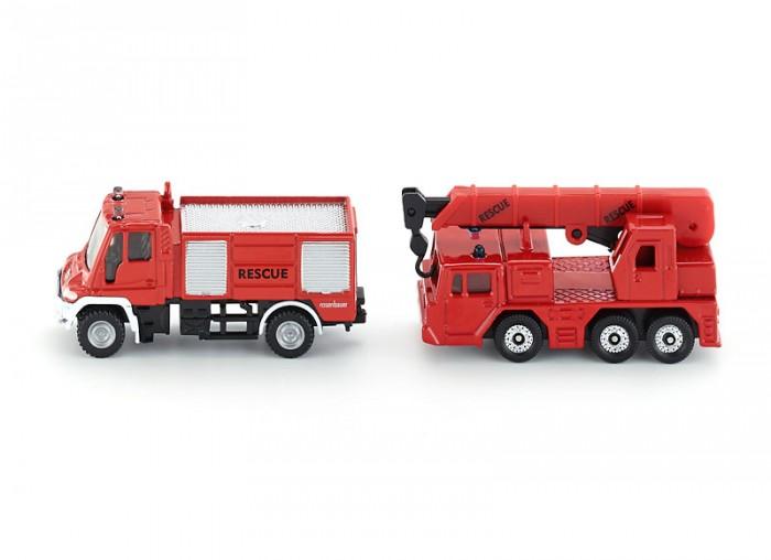 Фото - Машины Siku Пожарная машина и кран 1661 набор машин siku паром для