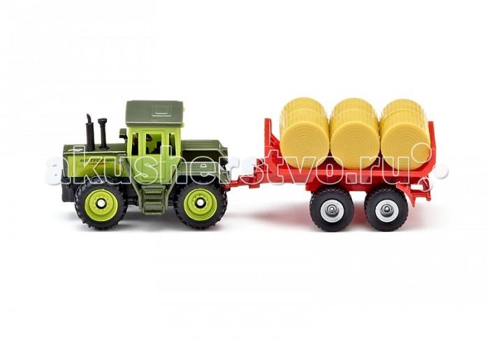 Машины Siku Трактор MB-trac с прицепом для тюков 1670 siku трактор claas с прицепом oehler