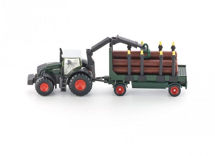 Машины Siku Трактор с прицепом с бревнами 1861 машины tomy john deere трактор monster treads с большими колесами и вибрацией