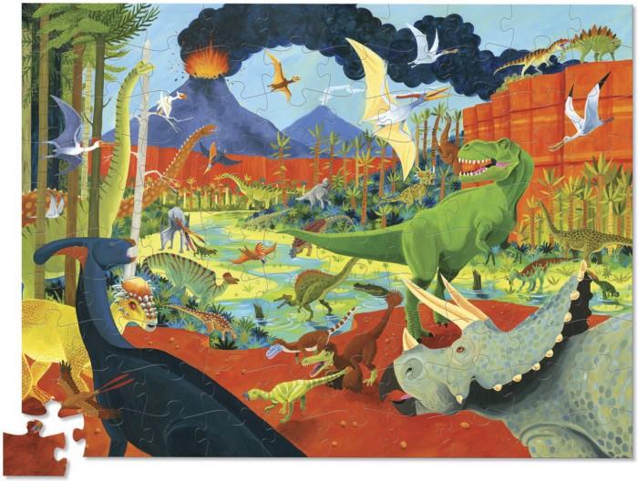Пазлы Crocodile Creek Пазл 36 Животных Динозавры (100 деталей)