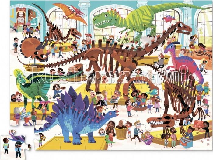 Пазлы Crocodile Creek Пазл День в музее Динозавр (48 деталей)