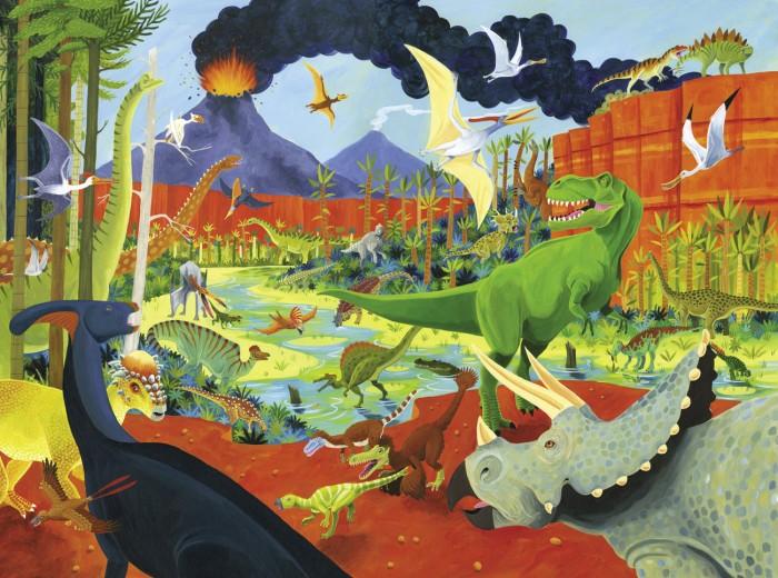 Пазлы Crocodile Creek Пазл 36 Животных Динозавры (300 деталей)