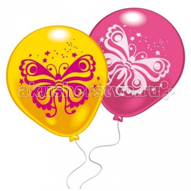 Товары для праздника Everts 10 шариков с рисунком Бабочка