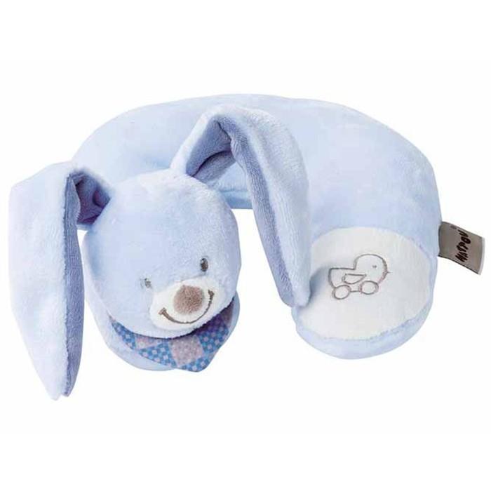 Nattou Игрушка мягкая Подголовник Neck pillow Alex & Bibiou Кролик
