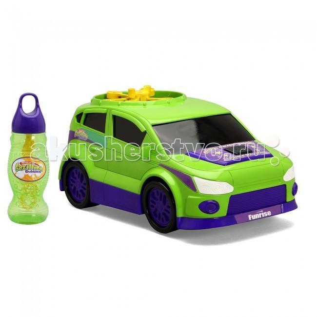 Gazillion Машинка с пузырямиМашинка с пузырямиFunrise Машинка Gazillion с пузырями - уникальная машинка от Gazillion, которая не только перемещается, но и создает пузыри. При встрече с каким-либо препятствием, она разворачивается и следует в другую сторону.  Машинка собрана из безопасных для детей материалов и выкрашена в яркие цвета. Несомненно, она отлично впишется в любой детский праздник. Особенно если он проходит на открытом воздухе.  Раствор Gazillion также не токсичен. Он имеет приятный запах и не оставляет следов на одежде и окружающих предметах.  Требуются батарейки 4 x AA / LR5 1.5V пальчиковые, в комплект не входят.  Рекомендуется для детей в возрасте от 3 лет.<br>