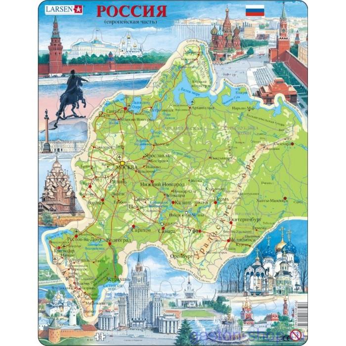 Купить Пазлы, Larsen Пазл Западная Россия (Русский)