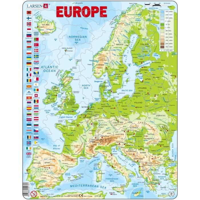 Картинка для Larsen Пазл Европа (Английский)