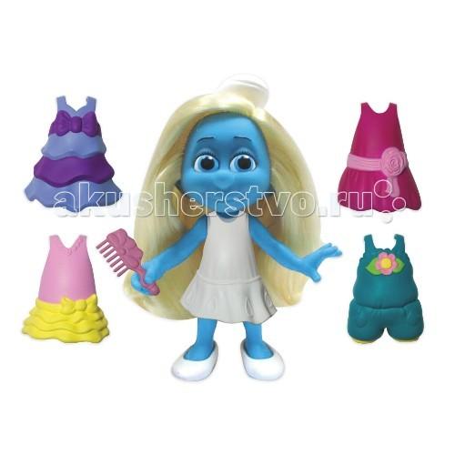 Смурфики Смурфетта-модница 16.5 смСмурфетта-модница 16.5 смСмурфики Jakks Смурфетта-модница 16,5 см - станет отличным набором для каждой маленькой девочки, которая верит в магию и чудеса. Смурфетта – это единственная девушка-гномик, которая живет среди маленьких голубых Смурфов, созданная злым колуном Гаргамелем, желающий захватить все волшебство этого веселого народа.   С помощью дополнительных модных аксессуаров, Смурфетта станет еще красивей и привлекательней.   Все элементы сделаны из прочного и качественного материала.  Высота фигурки: 16,5 см  Для детей от 3 лет.<br>