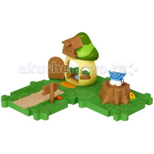 Игровые наборы Смурфики Набор Мини-Домик с мини-фигуркой Умника аксессуары для детей
