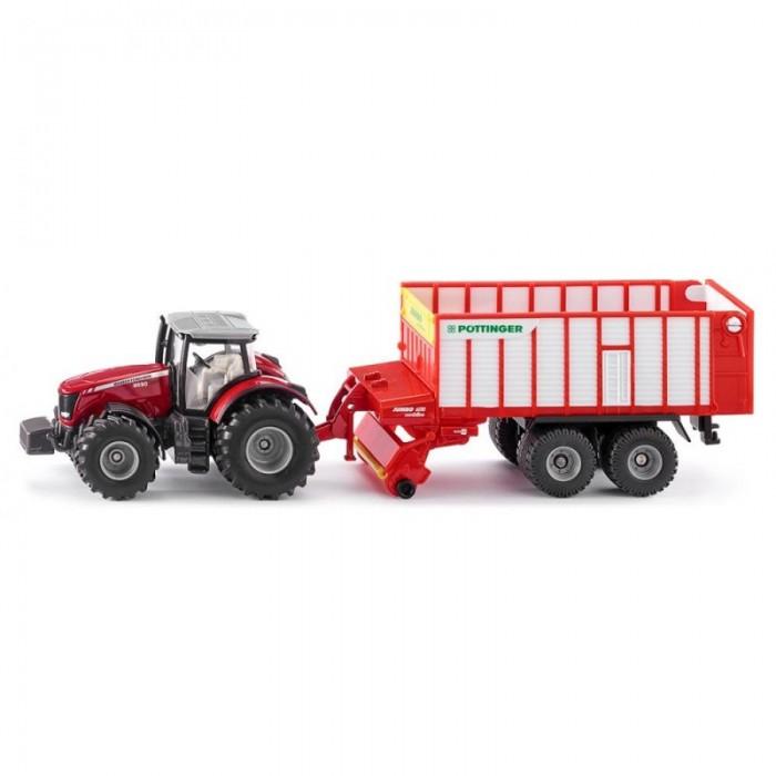 Купить Машины, Siku Трактор Massey Ferguson с прицепом-измельчителем 1987