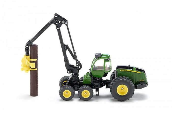 Машины Siku Трактор с захватом для бревен Джон Дир 1994 машины tomy john deere трактор monster treads с большими колесами и вибрацией
