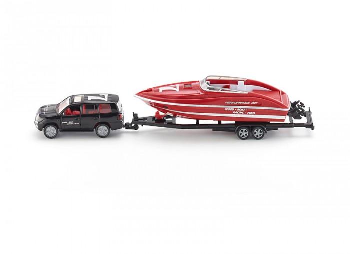 Машины Siku Джип с катером 2543 машины siku джип с лодкой 1658