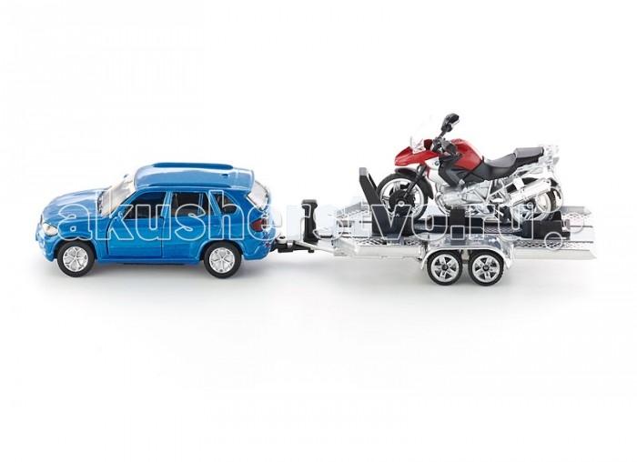 Siku Автомобиль BMW с прицепом и мотоциклом 2547