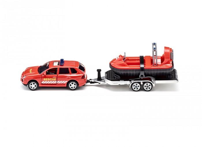 Машины Siku Автомобиль и прицеп с лодкой на воздушной подушке 2549 siku модель автомобиля porsche cayenne turbo с прицепом и лодкой