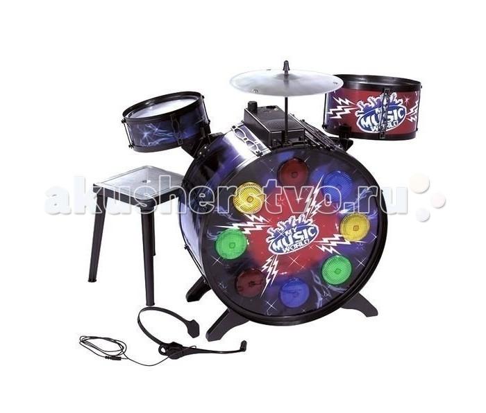 Купить Музыкальные инструменты, Музыкальный инструмент Simba Барабанная установка с наушниками