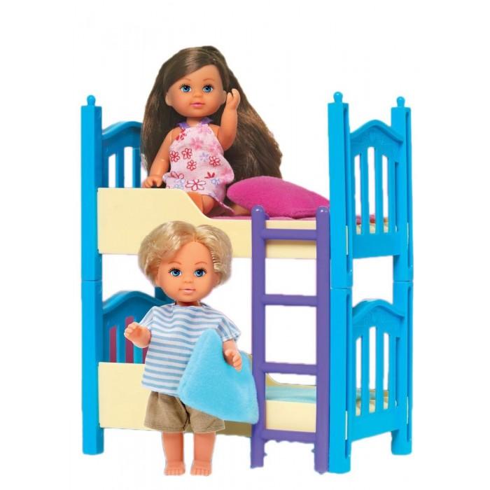 Игровые наборы Simba Игровой набор Кукла Еви с братиком и двухъярусной кроваткой цена