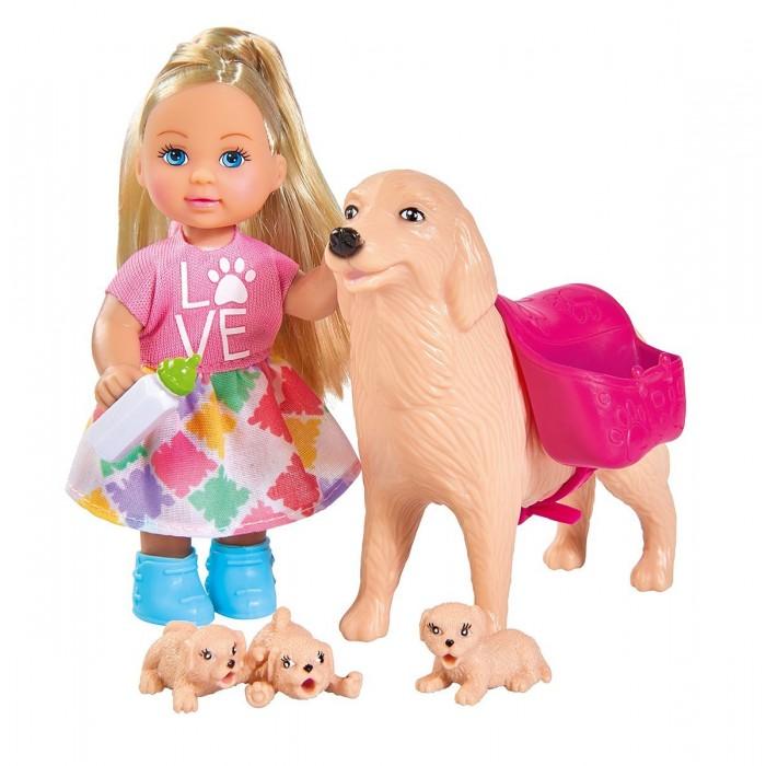Купить Игровые наборы, Simba Игровой набор Кукла Еви с собачкой и щенками 12 см