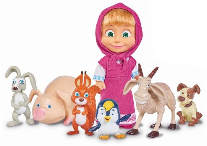 Купить Игровые наборы, Simba Игровой набор Кукла Маша с друзьями-животными 12 см