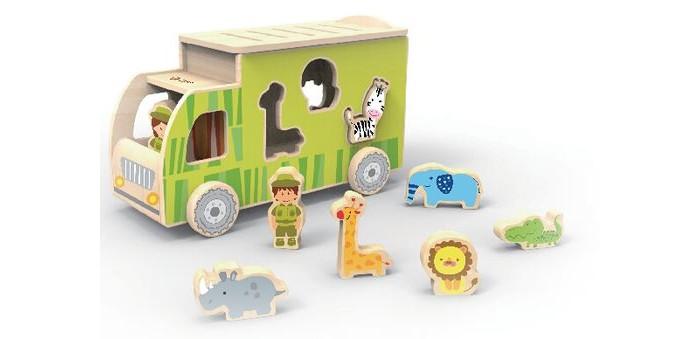 Деревянная игрушка Classic World Каталка-сортер Сафари